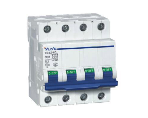 YEB2-63(C65N) 2P Mini Circuit Breaker